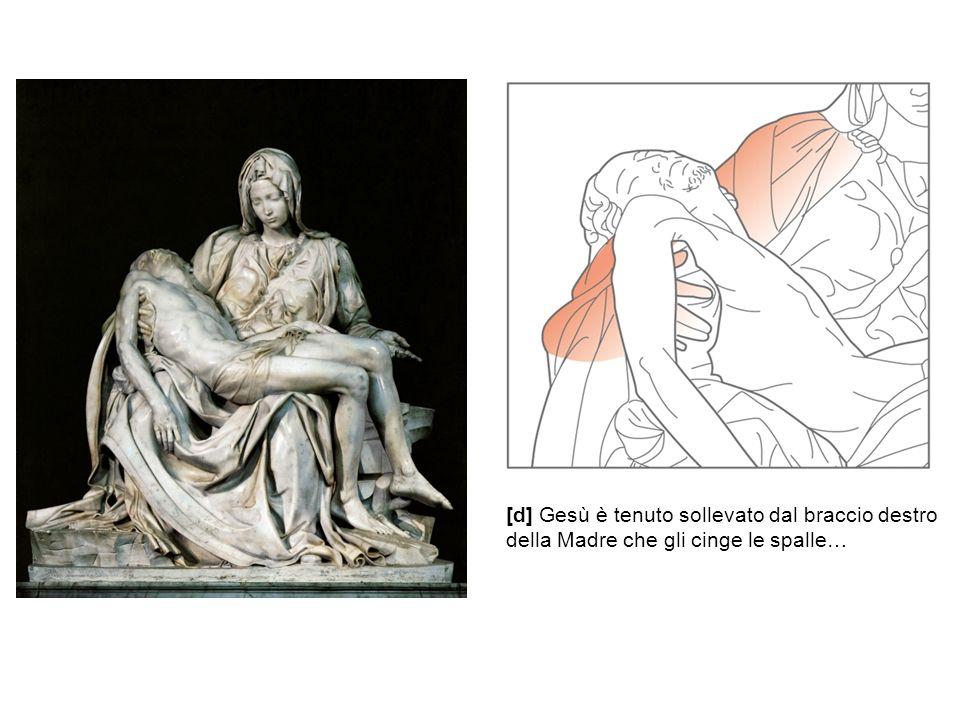 [d] Gesù è tenuto sollevato dal braccio destro